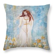 Freya - Goddess Of Love And Beauty Throw Pillow