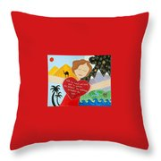 Freya Stark Throw Pillow