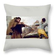 Friar Pedro Shoots El Maragato As His Horse Runs Off Throw Pillow