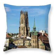 Fribourg, Switzerland Throw Pillow