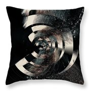 Friction Wheel Throw Pillow