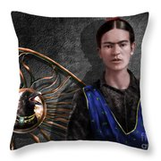 Frida - Wall Flower Waiting Throw Pillow