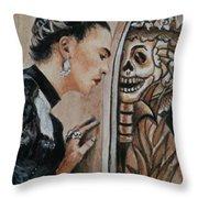 Frida Catrina Throw Pillow