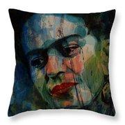Frida Kahlo Colourful Icon  Throw Pillow