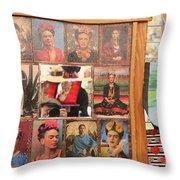 Frida Kahlo Display Picts Throw Pillow