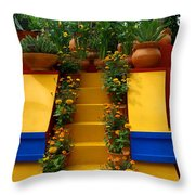Frida Kahlo Exhibit At New York Botanic Garden Throw Pillow