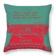 Frida Kahlo Quote Throw Pillow