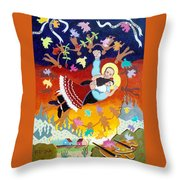 Frida Kahlo Y Diego Rivera Throw Pillow