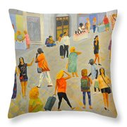 Friday In Tel Aviv Throw Pillow