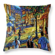 Friday Night Walk Prankearts Fine Arts Throw Pillow