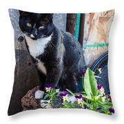 Friday The Cat Throw Pillow