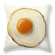 Fried Egg Throw Pillow