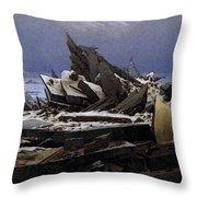 Friedrich Caspar David The Sea Of Ice Throw Pillow