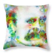 Friedrich Nietzsche - Watercolor Portrait.10 Throw Pillow