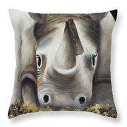 Friendly 01 Throw Pillow