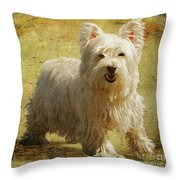 Friendly Smile Throw Pillow