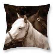 Friends - Sepia Throw Pillow