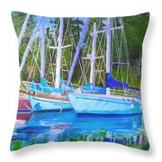 Friends Anchored Throw Pillow