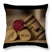 Friends And Wine Throw Pillow
