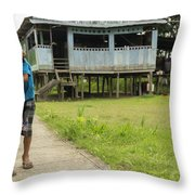 Friends By The House Throw Pillow