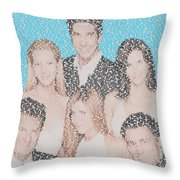 Friends Episode Mosaic Throw Pillow
