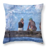 Friends In Paradise Throw Pillow