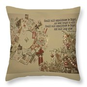 Friends Near And Far Quote Throw Pillow