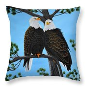 Friends Throw Pillow by Tracey Goodwin