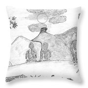 Friends Watching A Sun-rise Throw Pillow