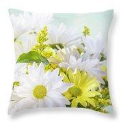 Friendship Bouquet Throw Pillow