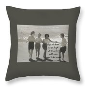 Friendship Dance Quote Throw Pillow
