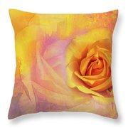 Friendship Rose Textured Throw Pillow
