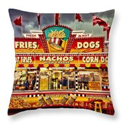 Fries Nachos Dogs Throw Pillow