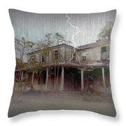 Frightening Lightning Throw Pillow