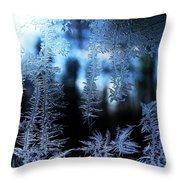 Frigid Blue Morning Throw Pillow