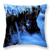 Frigid Flow Throw Pillow