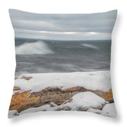 Frigid Waves Throw Pillow