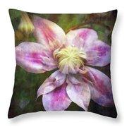 Frilled Clematis 1201 Idp_2 Throw Pillow