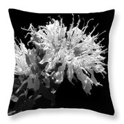 Frilly Flower Throw Pillow