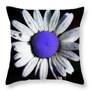 Fringe - Blue Flower Throw Pillow
