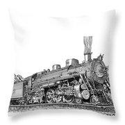 Steam Driven Locomotive Throw Pillow