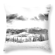 Frisco In The Snow Throw Pillow
