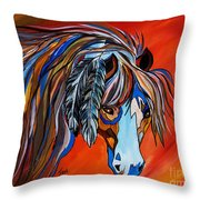 Frisco War Horse Throw Pillow