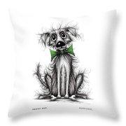 Frizzy Dog Throw Pillow