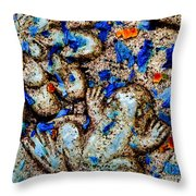 Frog And Flower Petals 2  Throw Pillow