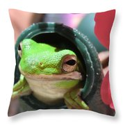 Frog At Selby Throw Pillow