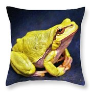 Frog - Id 16236-105000-7516 Throw Pillow