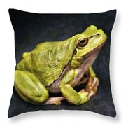 Frog - Id 16236-105016-7750 Throw Pillow