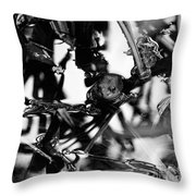 Frog In A Lake Throw Pillow