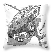 Oak Toad On A Leaf Throw Pillow